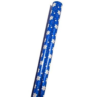 JAM Paper – Papier d'emballage d'Hanoucca, 25 pi2, étoiles d'Hanoucca (165532231)
