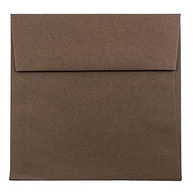 JAM Paper – Enveloppes carrées 5,5 x 5,5 po, brun chocolat, 1000/paquet (22314939b)