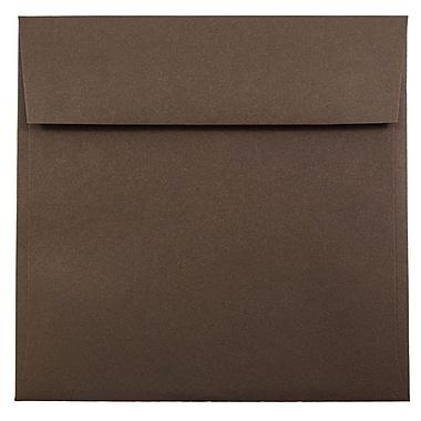 JAM Paper – Enveloppes carrées, 7,5 x 7,5 po, brun chocolat