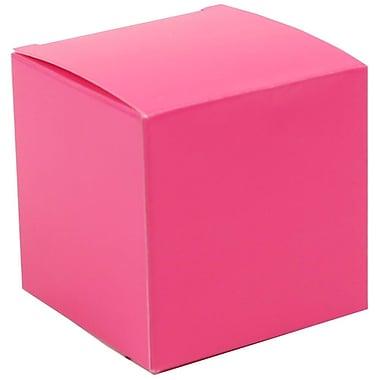 Jam Paper Boîtes-cadeaux lustrées, 2 x 2 x 2 po, fuchsia, 10/paquet (238326982A)