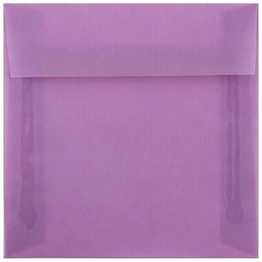 JAM Paper – Enveloppes carrées, 6,5 x 6,5 po, lilas violet translucide