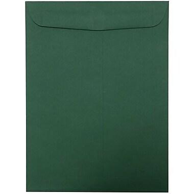 JAM Paper Enveloppes à ouverture au sommet pour catalogue, 9 x 12 po, vert foncé, 25/paquet (31287529)