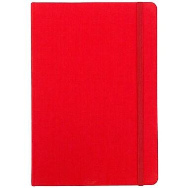 JAM Paper® Premium Fabric Textured Hardcover Journal with Elastic Closure, 6