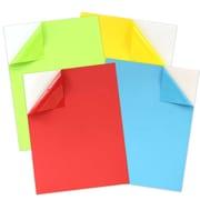 JAM Paper – Étiquettes pleine page, papier autocollant, 8,5 x 11 po, couleurs variées, 40/paquet (337628assrt)