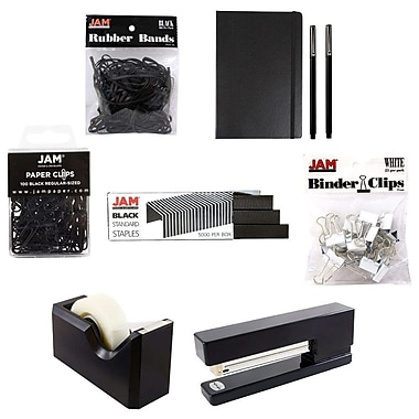 JAM Paper® Complete Desk Kit, Black (338756Cbk)