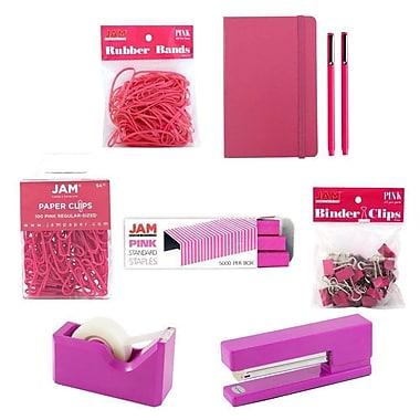 JAM Paper® Complete Desk Kit, Pink (338756Cpi)