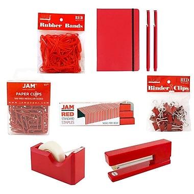JAM Paper – Trousse de bureau complète, rouge (338756Cre)