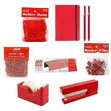 JAM Paper® Complete Desk Kit, Red (338756Cre)