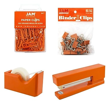 JAM Paper® Office Starter Desk Kit, Orange (338756or)