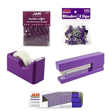 JAM Paper® Office Starter Desk Kit, Purple (338756pu)