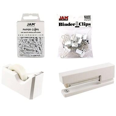 JAM Paper® Office Starter Desk Kit, White (338756wh)
