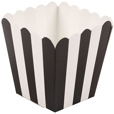 JAM Paper® Popcorn Boxes, Black, 10/Pack (347027076)