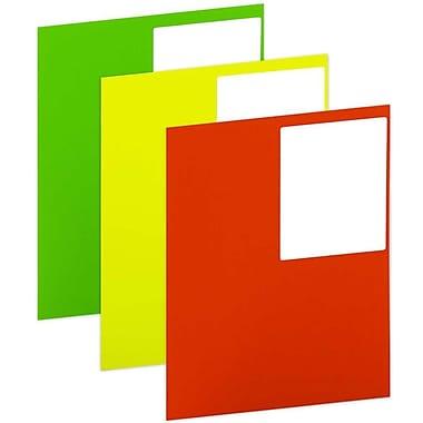 Jam Paper – Étiquettes postales, 4 x 5 po, couleurs fluo assorties, 360/paquet (354329ASSRT)