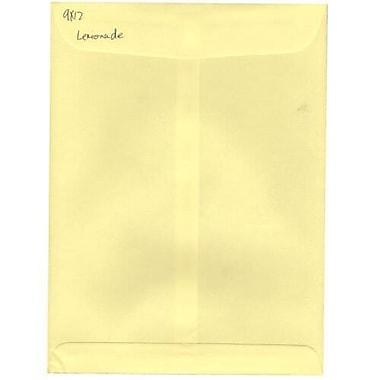 JAM Paper – Enveloppes à ouverture au sommet pour catalogue, 9 x 12 po, jaune pâle, 100/paquet (512816066f)