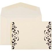 JAM Paper – Invitations de mariage, petit format, cartes florales, enveloppes avec ruban et lustre noirs, 100/paquet (52659640)