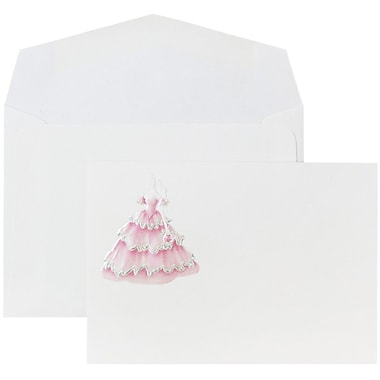 JAM Paper® Wedding Invitations, Small, White Berry Princess Cards, White Envelopes, 100/Pack (52681590)