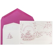 JAM Paper® Wedding Invitations, 1 Small & 1 Large, White Princess Garden Cards, Berry Envelopes, 150/Pack (5268195beCO)