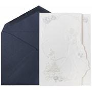 JAM Paper – Invitations de mariage, grand format, enveloppes bleu cobalt/blanc, cartes blanches avec mariés 50/pqt (5268702co)