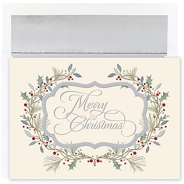 JAM Paper® Christmas Holiday Card Set, Merry Christmas, 18/Pack (526875600)