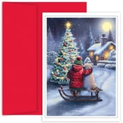 JAM Paper® Christmas Holiday Card Set, Best Friends, 18/Pack (526881200)