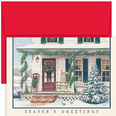 JAM Paper® Christmas Holiday Card Set, Welcome Home, 18/Pack (526887500)