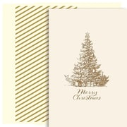 JAM Paper – Ensemble de cartes de Noël et des Fêtes, arbre de Noël, 18/paquet (526890900)