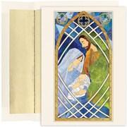 JAM Paper – Ensemble de cartes de Noël et des Fêtes, vitrail avec la Sainte Famille, 16/paquet (526893000)