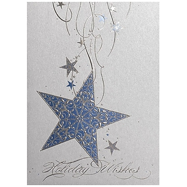 JAM Paper® Christmas Holiday Card Set, Hanging Star, 25/Pack (526M1051WB)