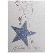 JAM Paper – Ensemble de cartes de Noël et des Fêtes, étoile suspendue, 25/paquet (526M1051WB)
