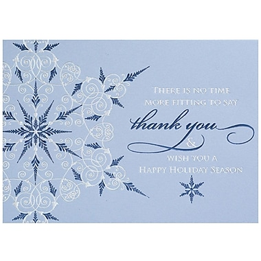 JAM Paper® Christmas Holiday Card Set, Holiday Thank You, 25/Pack (526M1054WB)