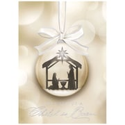 JAM Paper Christmas Holiday Card Set, Religious Ornament, 25/Pack (526M1108WB)