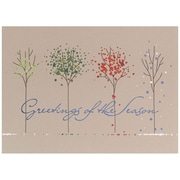JAM Paper – Ensemble de cartes de Noël et des Fêtes, arbres des quatre saisons, 25/paquet (526M1114WB)
