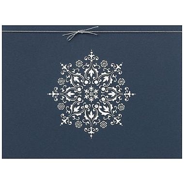 JAM Paper – Ensemble de cartes de Noël et des Fêtes, Flocon découpé au laser, 25/paquet (526M1301WB)