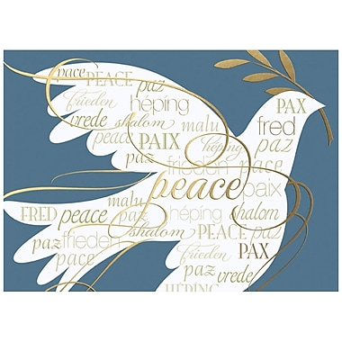 JAM Paper® Christmas Holiday Card Set, Peace Dove, 25/Pack (526M1304WB)