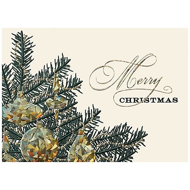 JAM Paper® Christmas Holiday Card Set, Merry Christmas Tree, 25/Pack (526M1316WB)