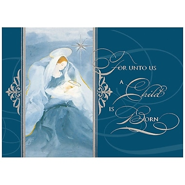 JAM Paper® Christmas Holiday Card Set, Madonna & Child, 25/Pack (526M1320WB)