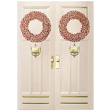 JAM Paper® Christmas Holiday Card Set, Holiday Doorway, 25/Pack (526M1325WB)