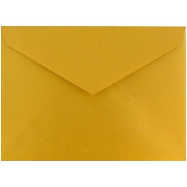 JAM Paper – Enveloppes à rabat en V, format 8 bar, 5,75 x 8 po, doré lustré, 50/paquet (526PKCE210)
