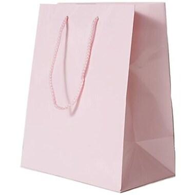 JAM Paper – Sacs-cadeaux lustrés, format moyen, 8 x 4 x 10 po, rose layette (672GLpia)