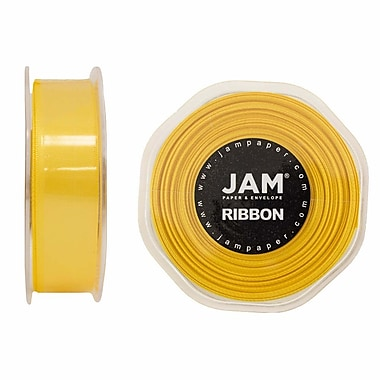 JAM Paper® Double Faced Satin Ribbon, 7/8