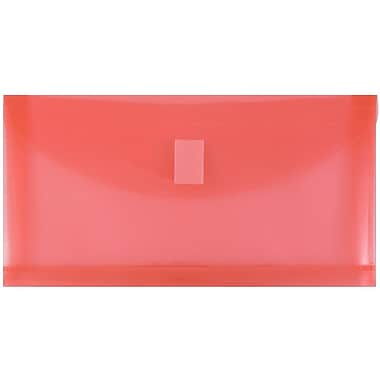 JAM Paper® Plastic Envelopes with Hook & Loop Fastener, #10, 5.25
