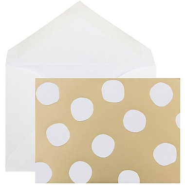 JAM Paper® Thank You Cards Set, Gold Polka Dot, 10/Pack (D41109NGLMB)