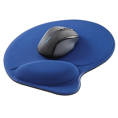 Kensington Mouse Pad with Wrist Pillow, Blue (57822)