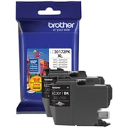 Brother LC3017 Black Ink Cartridges, High Yield, 2/Pack (LC30172PKS)
