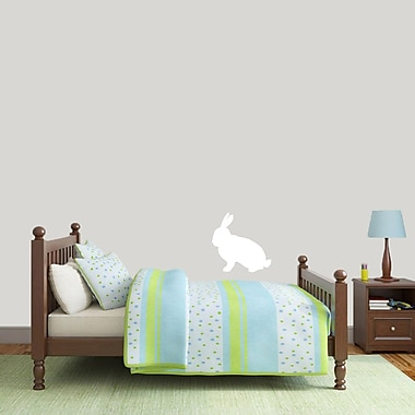 SweetumsWallDecals Rabbit Silhouette Wall Decal; White