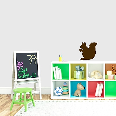 SweetumsWallDecals Squirrel Silhouette Wall Decal; Brown