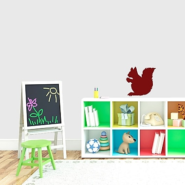 SweetumsWallDecals Squirrel Silhouette Wall Decal; Cranberry