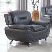 Latitude Run Bergenfield Modern Living Room Club Chair; Black