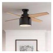 Hunter Fan 52'' Cranbrook 4 Blade Fan w/ Remote; Gloss Black