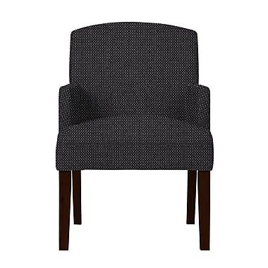 Red Barrel Studio Larose Formal Arm Chair; Dark Gray